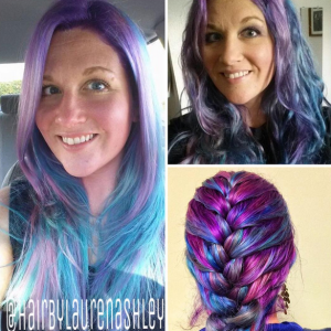 Purple Hair - Straight, Curly and Braided